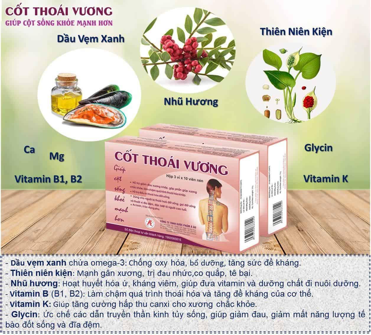 Thực phẩm bảo vệ sức khỏe Cốt Thoái Vương
